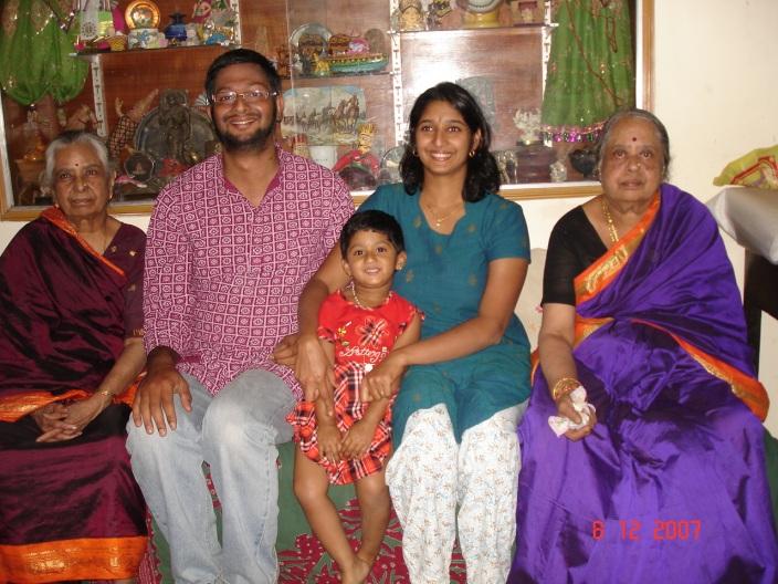 Navu's family, minus Spoorthi